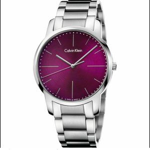 Calvin Klein Men's Burgundy Red Stainless Watch